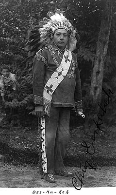 Cayuga Chief Deskaheh going to the League of Nations